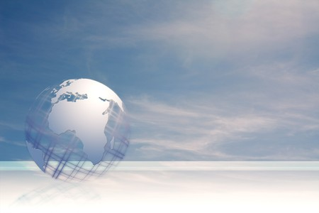 globus:  globe in the sky business card illustration Stock Photo