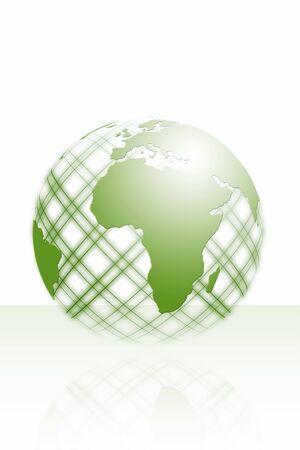 globalism: green world illustration