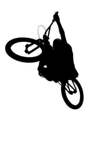mountainbike: mountainbike stunt silhouette