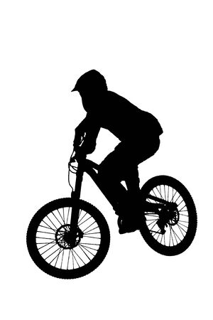mountainbike: mountainbike jump silhouette