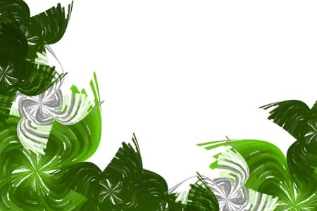 abstract green spirals background with place for text Stock Photo - 6946574