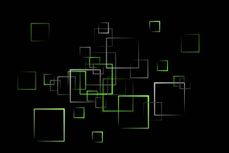 abstract quader background in green Stock Photo - 6946559