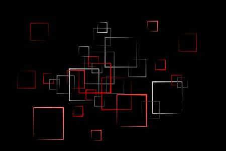 abstract quader background in red Stock Photo - 6946560