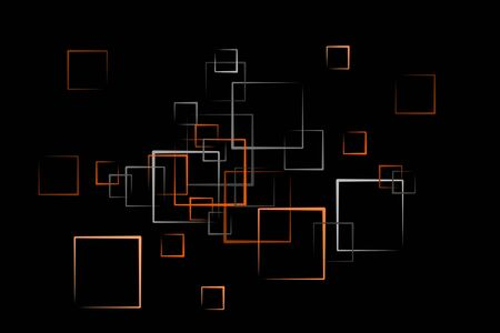 abstract quader background in orange Stock Photo - 6946556