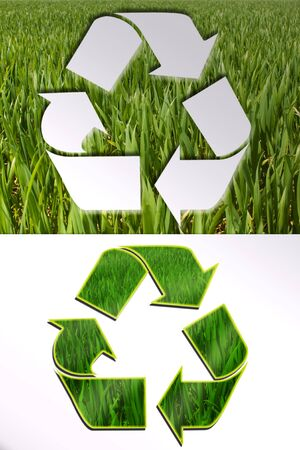 biologic: eco signs set isolated on white