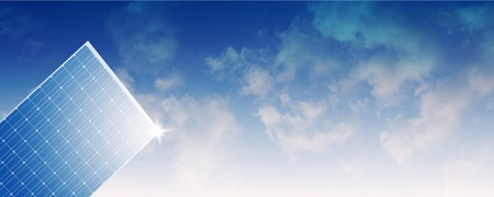 solar panel against sky  Stock Photo - 7310999