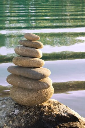 zen stones and water background photo