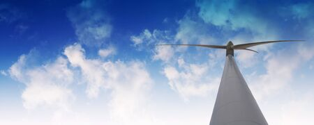wind mill against cloudy sky panorama Stock Photo - 7310998