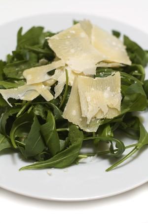 chees: italian ruccola salad with parmesan chees