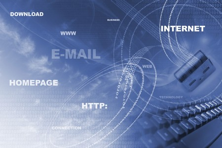 Internet concept illustration Stock Photo