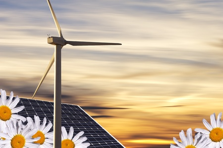 alternative energies concept Stock Photo