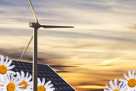 alternative energies concept Stock Photo