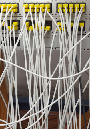 edv: network cable Stock Photo