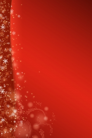 xmas card with stars and snowflakes