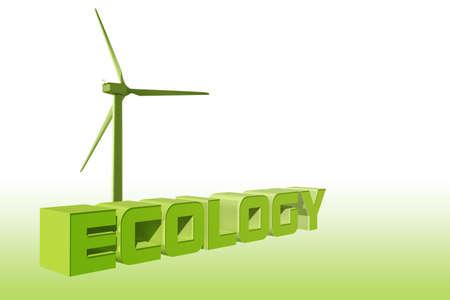 Ecology wind energy illustration