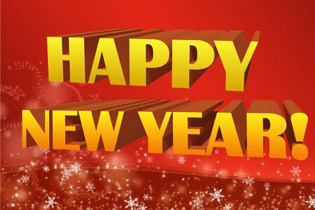 Happy new year 3D illustration Stock Illustration - 16604870