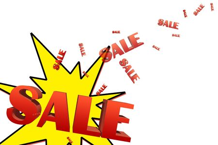 Explosive sale illustration with space for text Stock Illustration - 16604845