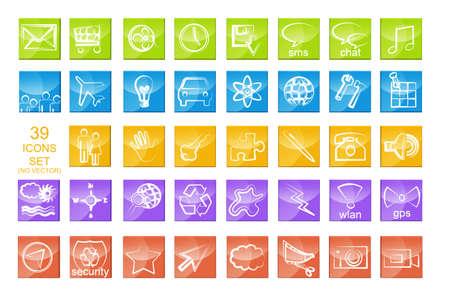 symbole: Apps icon set isolated on white