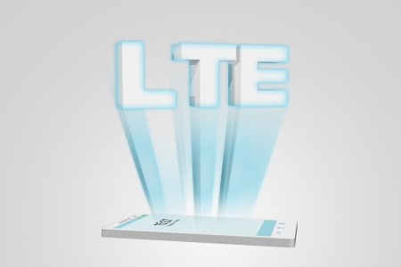 LTE - new telecommunication technology smartphone 3D illustration 스톡 사진
