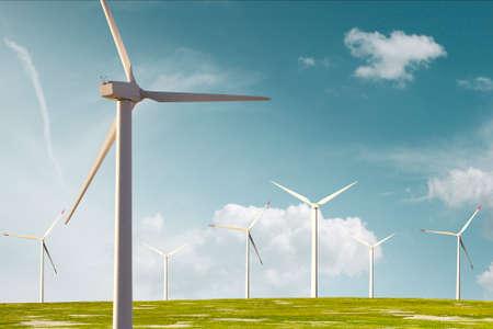 ecologic: Wind mill farm for ecologic energy