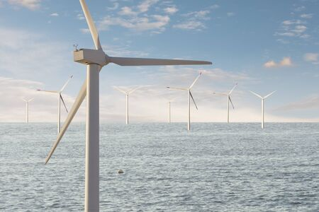 Wind mills park for ecologic and renewable electric energy production