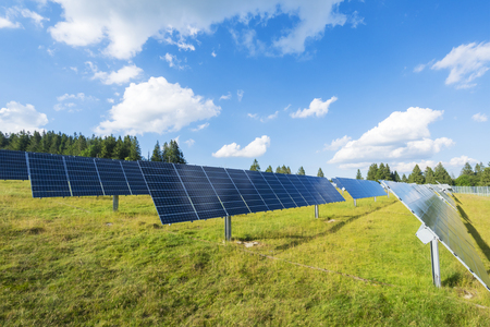 ecological environment: Solar cell panels renewable energy production