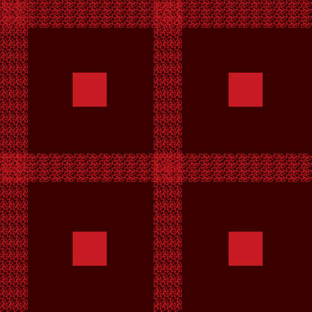 Scottish cage seamless pattern. Dark red tartan plaid background. Texture from clothes, dresses, blankets, plaid, tablecloths, fabric, shirts, paper, bedding, and textile products. Vector  イラスト・ベクター素材