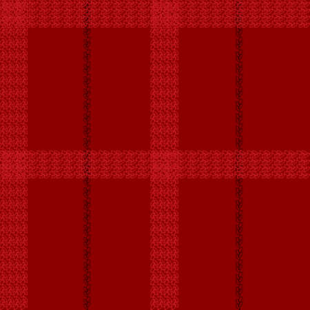 Scottish square cage seamless pattern. Black and red tartan plaid background. Texture from clothes, dresses, blankets, plaid, tablecloths, fabric, shirts, paper, bedding, textile products. Vector
