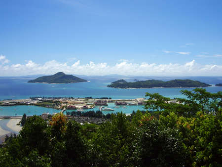 Kind of Victoria of capital of Seychelles        Stock Photo