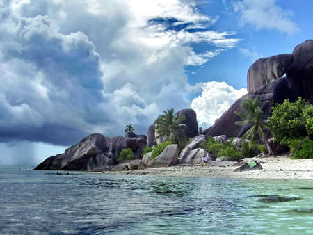 Beach on island          photo