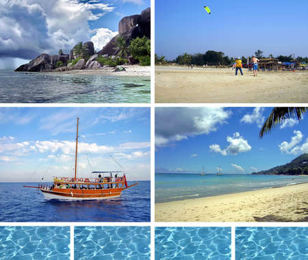 Tropical collage Stock Photo - 7068787