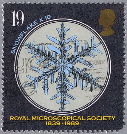 GREAT BRITAIN - CIRCA 1989: A stamp printed in Great Britain shows snowflake, series, circa 1989 photo