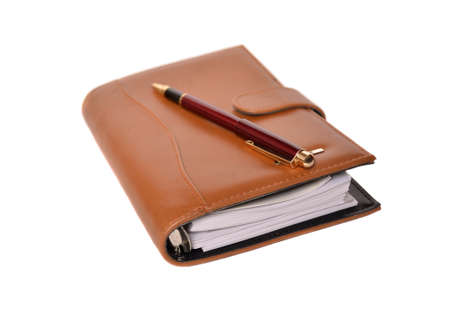 Daily planner with pen Stock Photo - 8447489