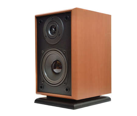 Acoustic system on a white background photo
