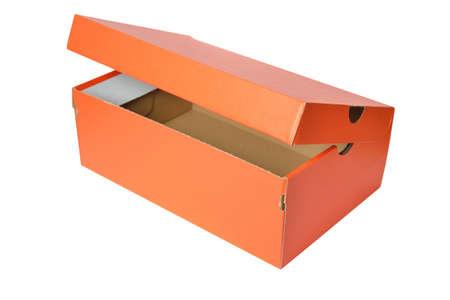 Empty box isolated on white photo