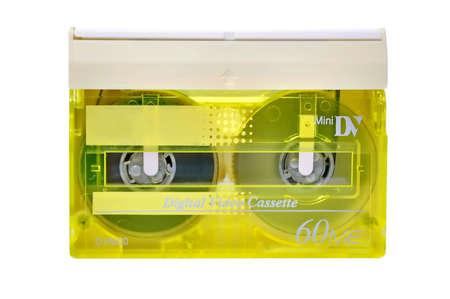 Mini DV cassette close up photo