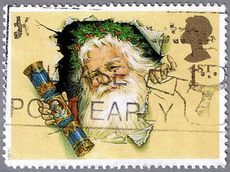 GREAT BRITAIN - CIRCA 1997: A stamp printed in Great Britain shows Santa Claus, circa 1997 photo