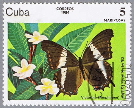 CUBA - CIRCA 1984: A stamp printed in Cuba shows Victorina, series, circa 1984 photo