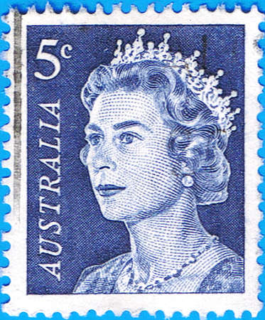 AUSTRALIA - CIRCA 1967: A stamp printed in Australia shows a portrait of Queen Elizabeth II, circa 1967