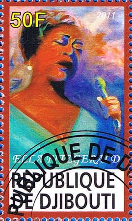 DJIBOUTI - CIRCA 2011: A postage stamp printed in the Republic of Djibouti showing Ella Fitzgerald, circa 2011  Editorial