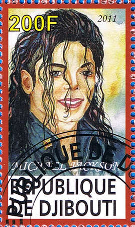 DJIBOUTI - CIRCA 2011: A postage stamp printed in the Republic of Djibouti showing Michael Jackson, circa 2011