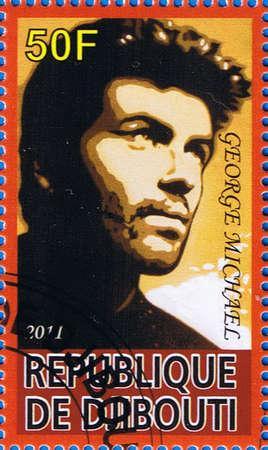 DJIBOUTI - CIRCA 2011: A postage stamp printed in the Republic of Djibouti showing George Michael, circa 2011
