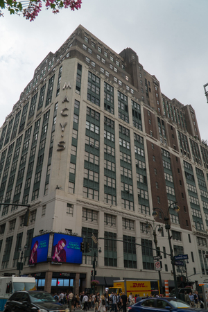 New York City, Circa 2019: Macys flagship retail store in Herald Square manhattan will raise a skyscraper on top of location for office and apartment space to develop new real estate investment