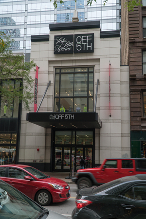 Chicago, USA - Circa 2019: Saks off 5th avenue retail clothing fashion store in downtown
