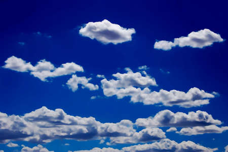 puffy: Puffy clouds Stock Photo