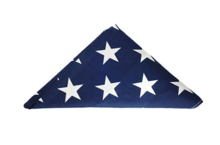 Folded American flag Stock Photo - 7268040