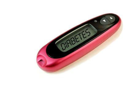 Diabetic meter with the word Diabetes