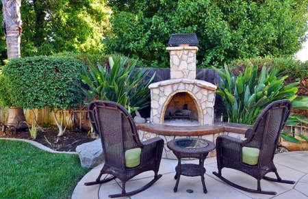 Backyard oase Stockfoto