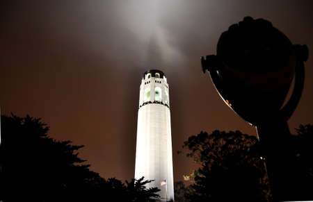 Coit Tower in Fog