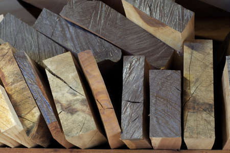 Stacked milled lumber